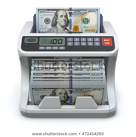 Elektronische geld counter Blauw snelheid bank Stockfoto © Frankljr