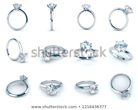 gold ring with turquoise gems isolated illustraion stock photo © robuart