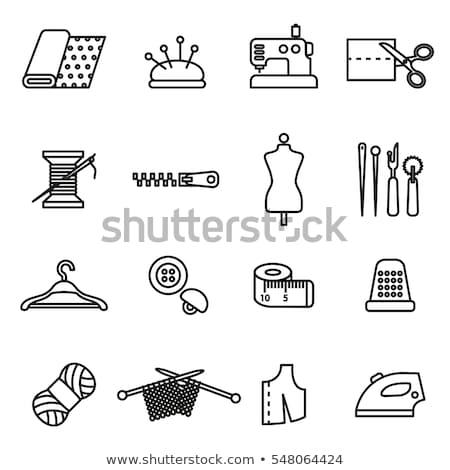 Naaien iconen communie illustratie ontwerp kleuren Stockfoto © lenm