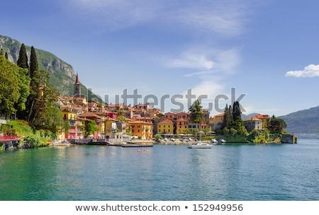 Porto lago spiaggia acqua montagna barca Foto d'archivio © LianeM