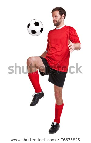 Soccer Player Keeping Ball Stock photo © IS2