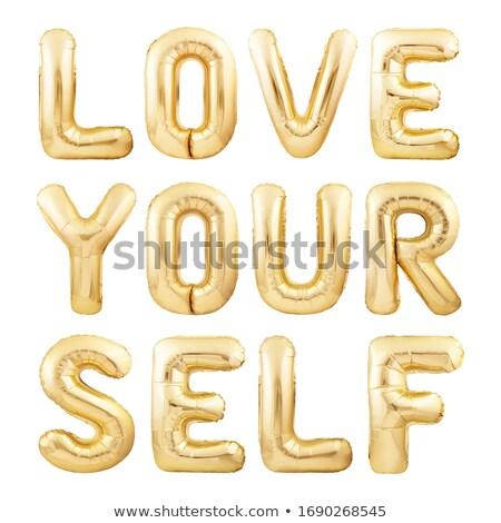 Word love on a white background Stock photo © Kotenko