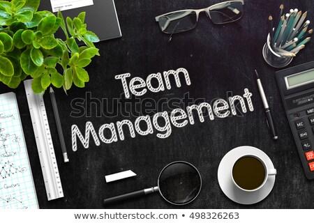 human resource management on chalkboard 3d rendering stock photo © tashatuvango