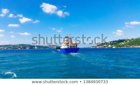 vrachtschip · istanbul · zonsondergang · Turkije · water · oceaan - stockfoto © givaga