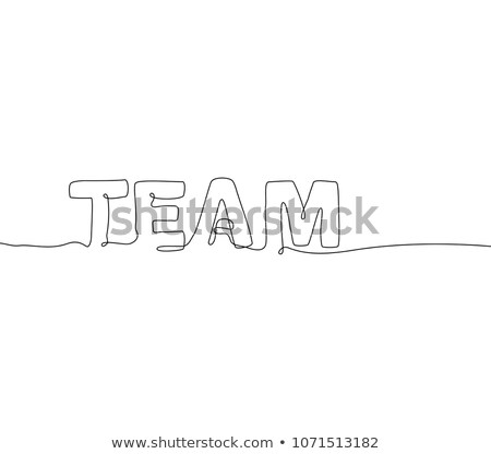 business   one continuous line design style lettering stock photo © decorwithme