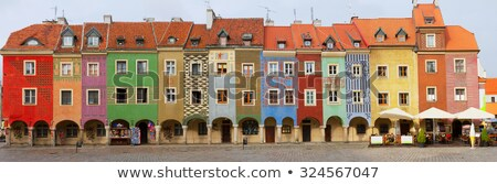 crooked medieval houses poznan poland stock photo © neirfy