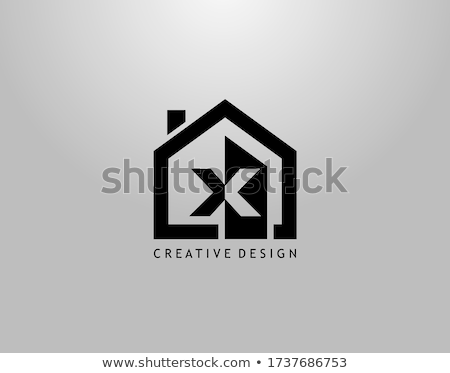 house logo with letter x sign logo template stock photo © taufik_al_amin