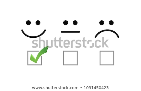 sad face check mark selection illustration options graphics. Stock photo © alexmillos