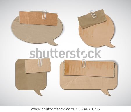 Cardboard Wrinkles Texture And Speech Bubbles Stock photo © adamson