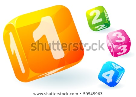 Figured pattern of ice cubes on a blue background Stock photo © artjazz