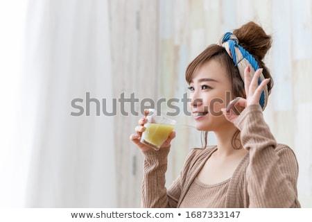 oranje · wortel · smoothie · vers · glas · drinken - stockfoto © m-studio
