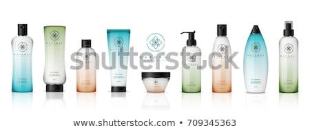 vetor · realista · prata · perfume · garrafa · para · cima - foto stock © frimufilms