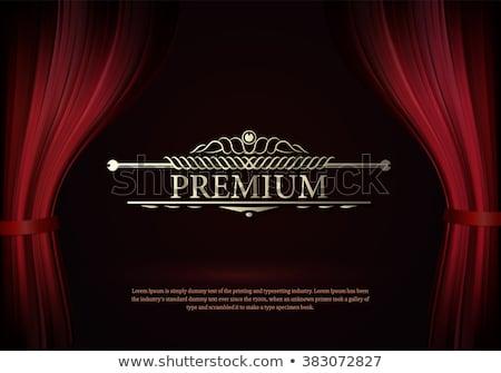 rosso · teatro · sipario · vettore · Opera · cinema - foto d'archivio © adamson