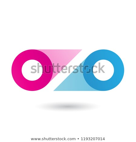 magenta and blue double letter o vector illustration stock photo © cidepix