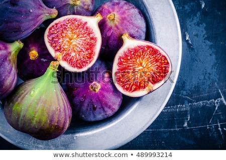 Bowl full of cut figs Stock photo © dash