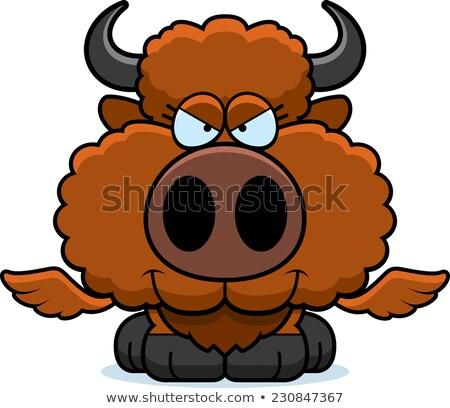 Cartoon Sly Buffalo Stock photo © cthoman