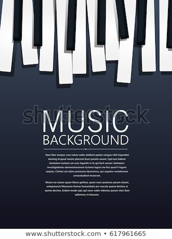 Musical background with piano keyboard. Vector illustration. Stock photo © AbsentA