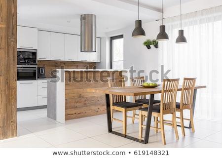 Moderno cozinha mobiliário vidro Foto stock © ruslanshramko