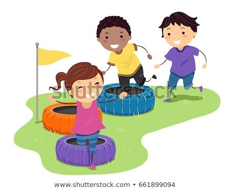 子供 · 演奏 · 手押し車 · レース · 実例 · 子 - ストックフォト © lenm