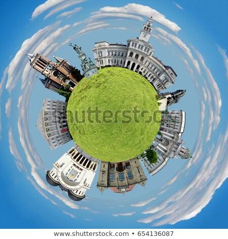 Planète ville Roumanie Voyage Photo stock © tony4urban