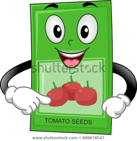 Seed Packet Mascot Tomato Illustration Stock photo © lenm
