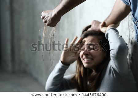 Young woman being a domestic violence victim Stock photo © lightpoet