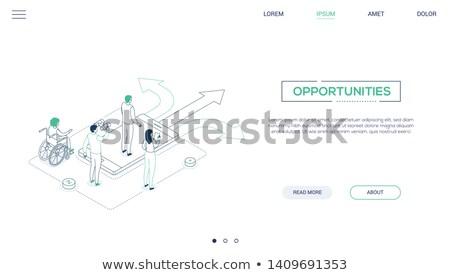 La toma de decisiones moderna vector sitio web Foto stock © Decorwithme