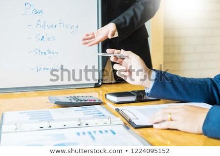 negócio · atacar · plano · tático · estratégia · reunião - foto stock © snowing
