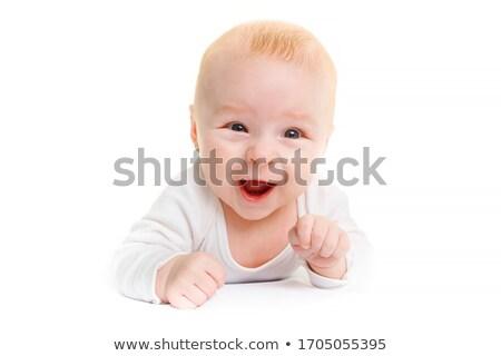 肖像 泣い 小さな 赤ちゃん 白 少女 ストックフォト © Lopolo