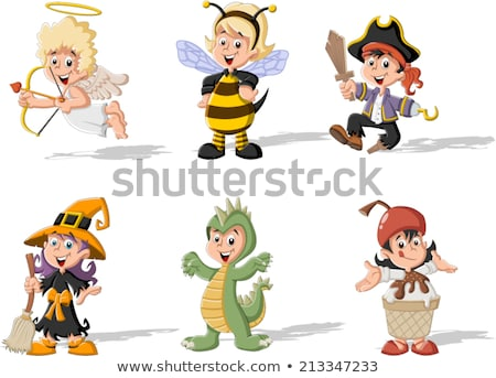 Cartoon Smiling Cupid Girl Stock photo © cthoman