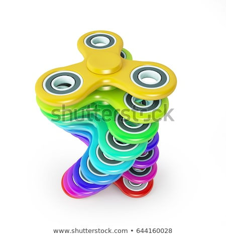 fidget spinner pink fashionable relaxation toy for kids and hipsters stock photo © swillskill