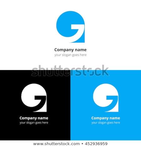 blue g logo circle symbol logotype vector Stock photo © blaskorizov