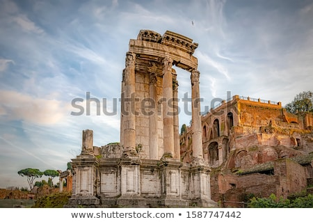Temple romaine forum Rome Italie pierre Photo stock © boggy