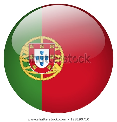 Flag of Portugal in round shape Stock photo © colematt