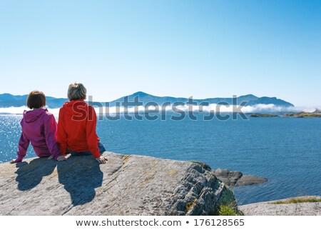 Napos idő Norvégia tájkép napos nyár nap Stock fotó © Kotenko