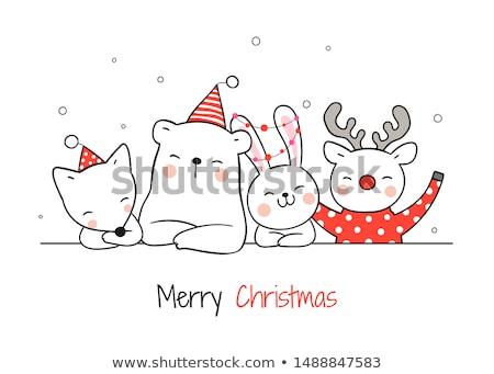 Vadvilág nap kártya boldog állat barátok Stock fotó © cienpies