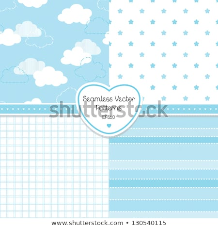 Cute baby cloud pattern vector seamless, baby shower invitation Stock photo © lemony