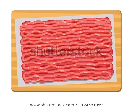 vector minced meat on wooden kitchen board  Stock photo © freesoulproduction