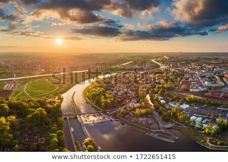 óváros éjszaka égbolt épület utca kék Stock fotó © benkrut
