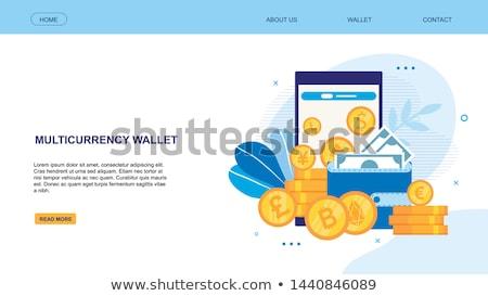Dollár Euro bitcoin bankjegy asztal pénz Stock fotó © boggy