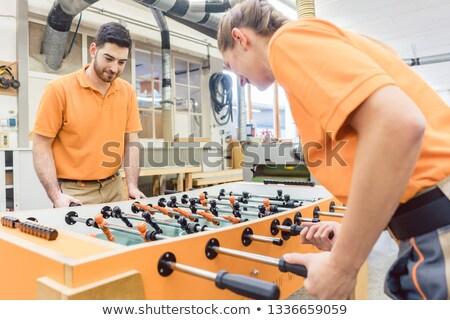 Due giocare tavola calcio lavoro break Foto d'archivio © Kzenon