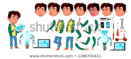 アジア 少年 男子生徒 セット ベクトル 小学校 ストックフォト © pikepicture