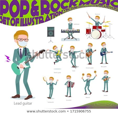 Sarışın saç müzik ayarlamak işadamı oynama Stok fotoğraf © toyotoyo