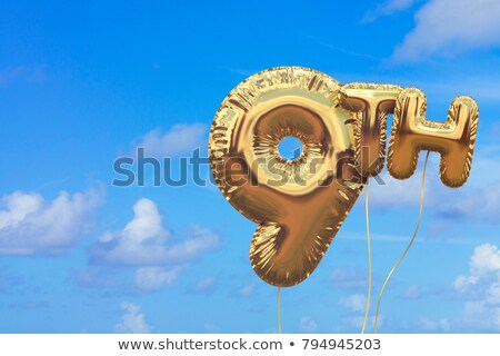 Number nine balloon on sky Stock photo © colematt
