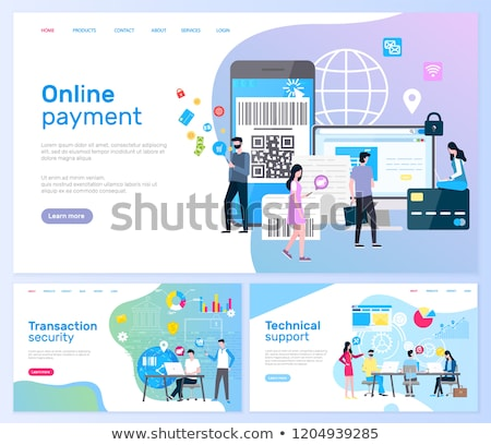 Technical Support and Online Payment, Transaction Stok fotoğraf © robuart