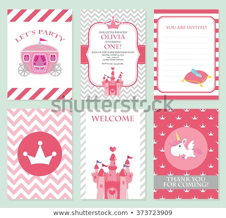 vector Princess party template Сток-фото © VetraKori