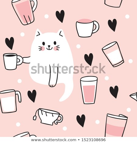 beker · koffie · poster · koffiekopje · eerste - stockfoto © artspace