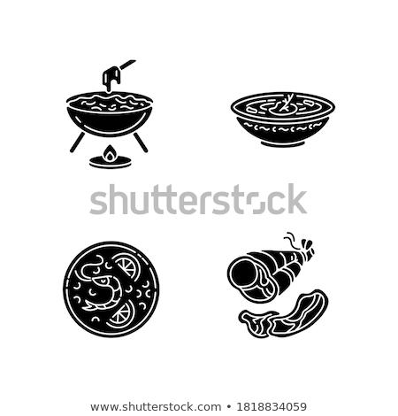 Ukrainian icons collection with tradition symbols Stock photo © netkov1