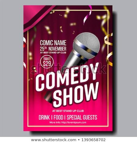 Nowoczesne jasne plakat karty komedia pokaż Zdjęcia stock © pikepicture