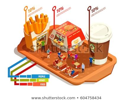 нездоровой · пищи · торговых · диета · жирный · жареный - Сток-фото © rastudio